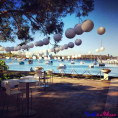 white paper lanterns / outdoor wedding / summer / perth / matilda bay / swan river / Events & Styling by Turtle & the Pelican  www.turtleandthepelican.com.au www.facebook.com/turtleandthepelican
