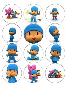DIY Party: Free Printable: Cupcake toppers Pocoyo!