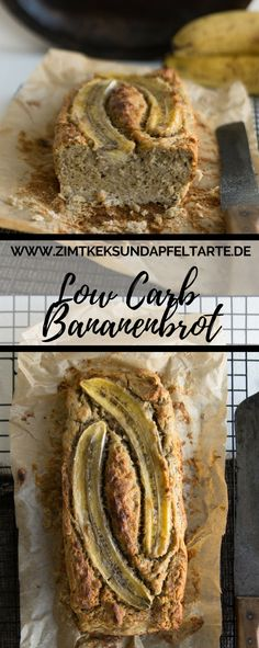 Low Carb Banana Bread - easy and fast- Low Carb Bananenbrot – einfach und schnell Simple and delicious, fast baked and gluten-free: my recipe for low carb banana bread – bananabread bread free carb - Breakfast Bread Recipes, Low Carb Breakfast, Whole Foods, Whole Food Recipes, Paleo Dessert, Desayuno Paleo, Vegan Protein Bars, Easy Banana Bread, Low Carb Bread
