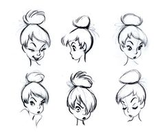 Character Designs from Peter Pan by Marc Davis