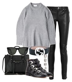 """""""Untitled #1364"""" by ruhika29 ❤ liked on Polyvore featuring Yves Saint Laurent, Acne Studios, Gucci, Balenciaga, Givenchy, RetroSuperFuture and Forever 21"""