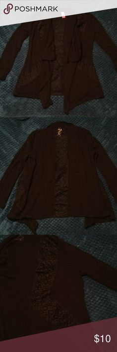 No Boundaries M Cardigan Lace detail on back and sides No Boundaries Sweaters Cardigans