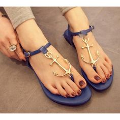 Cheap love of Anchor Flat Sandals Sale