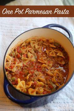 One Pot Parmesan Pasta