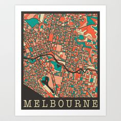 Melbourne #2 Art Print by Jazzberry Blue
