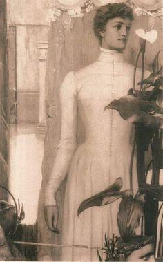 """windypoplarsroom:  Fernand Khnopff """"Arum Lily,"""""""