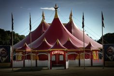 Circus tent all patched up!