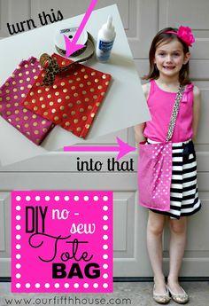 DIY No Sew Tote Bag