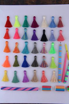 Put a Tassel on it!  NEW Spring Pantone Colors Mini Nylon SilkyTassels, You Choose your Colors!  by WomanShopsWorld #tassels