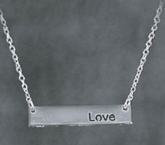DIY Love Bar Necklace | DIY Bar Necklace Tutorial from @joannstores