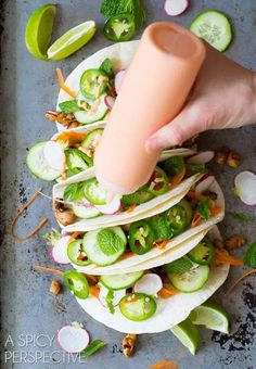 Vietnamese Banh Mi Street Tacos - A Spicy Perspective Vietnamese Banh Mi, Vietnamese Street Food, Vietnamese Sandwich, Vietnamese Recipes, Asian Recipes, Mexican Food Recipes, Healthy Recipes, Ethnic Recipes, Fusion Food