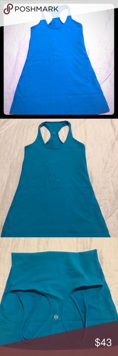 Lululemon Cool Racerback Tank Top Size 4 Cool Racerback Tank Top Size 4 In a Pretty Blue Bird Color and worn only 1 time! lululemon athletica Tops Tank Tops