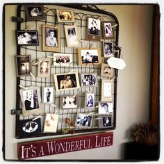 Great way to display photos.  Here I used vintage backings and printed my photos on linen paper with a sepia, or black and white look.  That way, the photos weren't damaged and I can replace them at anytime.