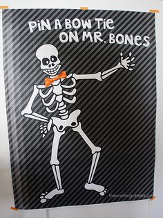 Pin the Bow Tie on Mr. Bones and 11 more Halloween Printables. Print this as an engineering print to get a huge skeleton at a small price.