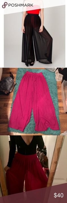 American apparel rare chiffon pants American apparel pink chiffon pants. I'm obsessed with these!! But I never wear them anymore, in high demand no longer online. Size medium. I'm a small and it fits me, can give measurements if wanted. No trades. American Apparel Pants