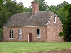 The kitchen-laundry at Stratford Hall in Westmoreland County, Virginia, is a large, two-room affair made sturdily of brick.
