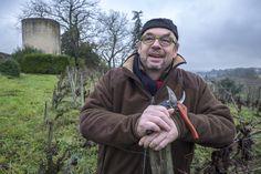 gueules de vignerons, portrait de vignerons, winemaker, Jean-Yves bardin photographe Gueules de vignerons, photographies de vignerons, biodynamie, Grégoire et Bénédicte Hubau, Canon Fronsac, vin bio, vin bio Bordeaux, grands vins de Bordeaux