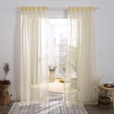 Deconovo Sheer Curtains - CountryCurtains Peach Curtains, Sheer Curtains, Interior Decorating, Interior Design, Smart Design, Soft Furnishings, Curtain Rods, Bed Sheets, Window Treatments