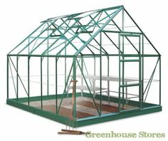 Halls Universal Green 8x10 Greenhouse http://www.greenhousestores.co.uk/Halls-Universal-Green-8x10-Greenhouse-3mm-Horticultural-Glazing.htm