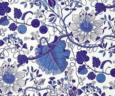 Josef Frank La Plata [linen fabric] design classic by Svenskt Tenn Textiles, Textile Patterns, Print Patterns, Pattern Designs, Josef Frank, Motif Floral, Fabric Wallpaper, Illustrations, Surface Pattern