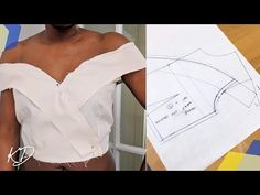 Hey DIY Fam, this video is a pattern tutorial in which I make an off-shoulder collar top, cutting and stitching included. Bodice Pattern, Top Pattern, Collar Pattern, Collar Designs, Blouse Designs, Dress Sewing Patterns, Clothing Patterns, Sewing Collars, Sewing Blouses