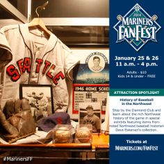 Learn about the history of baseball in the Northwest (exhibit located in the Diamond Club). #MarinersFF