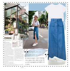 Designer Clothes, Shoes & Bags for Women Korea Fashion, Simple Style, High Waisted Skirt, Skirts, Polyvore, Stuff To Buy, Shopping, Collection, Design