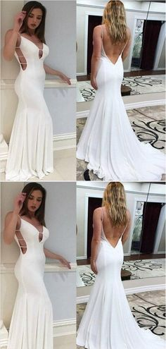 Prom Dresses Beautiful, Mermaid Backless V-neck White Prom Dresses,Cheap Prom Dresses, Looking for the perfect prom dress to shine on your big night? Prom Dresses 2020 collection offers a variety of stunning, stylish ball. Classy Prom Dresses, Gold Prom Dresses, Simple Prom Dress, Prom Dresses For Teens, Best Prom Dresses, Perfect Prom Dress, Popular Dresses, Prom Dresses Online, Cheap Prom Dresses