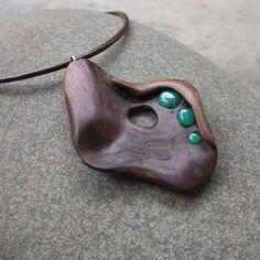 Wood stone pendant necklace   Australian by NaturesArtMelbourne,: