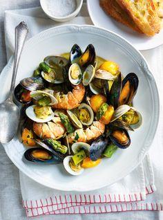 Recette de Ricardo de casserole de fruits de mer au safran