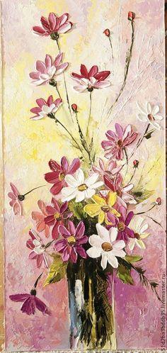 """Картина """"Цветной микс"""" (масло). Handmade."""