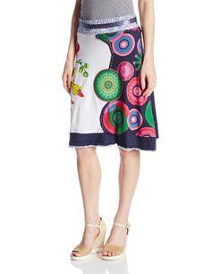 Desigual Women's Irenia Print Skirt, White, Medium Desigual,http://www.amazon.com/dp/B00G55M1X8/ref=cm_sw_r_pi_dp_qAFEtb0070QDKGMT