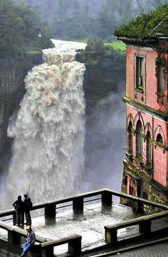 The Hotel del Salto, Tequendama Falls, Bogotá River, Colombia. The Marshall Center has 37 from Colombia as of April Places Around The World, Oh The Places You'll Go, Places To Travel, Places To Visit, Around The Worlds, Magic Places, Les Cascades, Beautiful Waterfalls, Future Travel