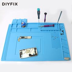 DIYFIX 45x30cm Heat Insulation Silicone Pad Desk Mat Maintenance Platform for BGA Soldering Repair Station with Magnetic Section - ICON2 Luxury Designer Fixures  DIYFIX #45x30cm #Heat #Insulation #Silicone #Pad #Desk #Mat #Maintenance #Platform #for #BGA #Soldering #Repair #Station #with #Magnetic #Section
