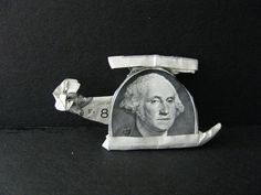 George - Helicopter Pilot - Money Origami