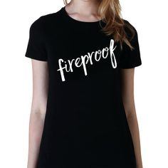 Fireproof Tshirt Teen Girl Gifts College Girl Gifts Band Shirt 5... (€15) ❤ liked on Polyvore featuring tops, t-shirts, black, women's clothing, loose fit t shirts, tee-shirt, long sleeve shirts, long sleeve t shirts and slim t shirts