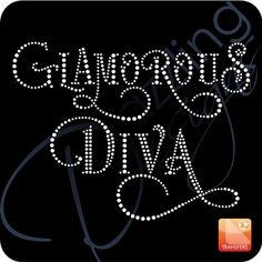 Glamorous Diva <BR>Rhinestone Transfer <BR>10 x 7.5