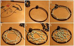 Step by step instructions for how to make a mini dream catcher -- perfect for necklaces, earrings, decorations, etc.