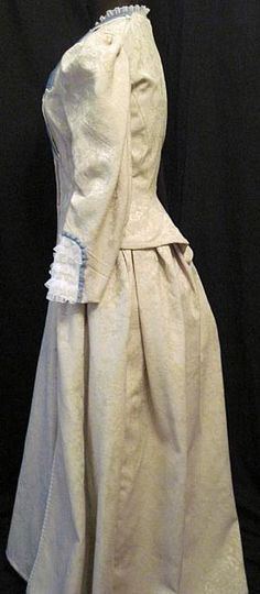 1870s Victorian Bustle Gown
