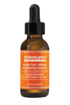 A botched facial left me with a huge blemish on my left cheek. This potent ferulic-acid-and-retinol combo faded the dark spot in less than two weeks. All I had to do was apply it morning and night after cleansing and before moisturizing.   Dr. Dennis Gross Ferulic & Retinol Brightening Solution, $85, available at Dr. Dennis Gross.