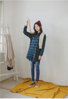 Chenning Band Denim Skinny | Korean Fashion