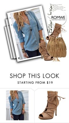 """ROMWE  3"" by melissa995 ❤ liked on Polyvore"