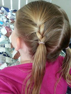 Little girl ponytails braided quick and easy up do for toddlers, little girls