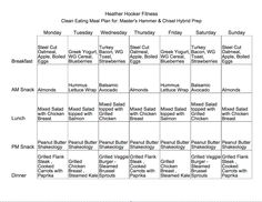 clean eating meal plan 21 day fix masters hammer and chisel