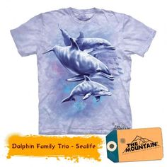 Tricouri The Mountain – Tricou Dolphin Family Trio Dolphin Family, Dolphins, Cloths, Mountain, 3d, Mens Tops, T Shirt, Tee, Diy Dusters