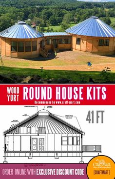 Round House Plans, Dream House Plans, Small House Plans, House Floor Plans, Cool House Plans, Round Building, Building A House, Hurricane Proof House, Yurt Home
