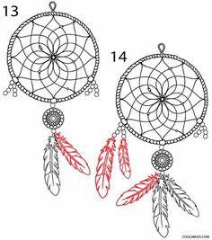How to Draw a Dreamcatcher Step 7