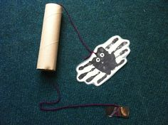Incy Wincy spider song prop: Making this song prop provides a great sensory experience when using the black paint with your hands....