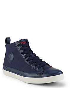Canvas High-Top Sneaker - Shoes Polo Ralph Lauren - Ralph Lauren UK