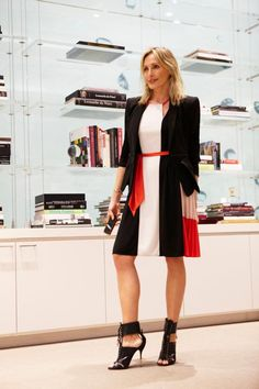 """Rock the Block. A chic color block dress strikes the perfect tone for Tuesday."" —Lubov Azria"
